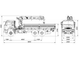 Кран-манипулятор автомобильный модели 658610-0000322-06